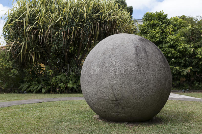 Costa Rica ancient Pre Columbian stone sphere stock photos