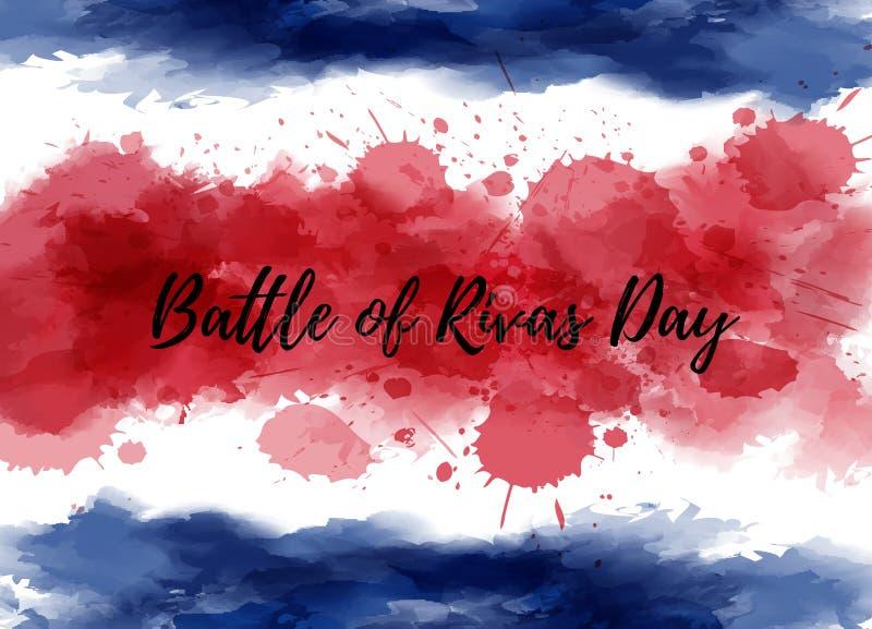 Costa Rica Battle of Rivas day vector illustration
