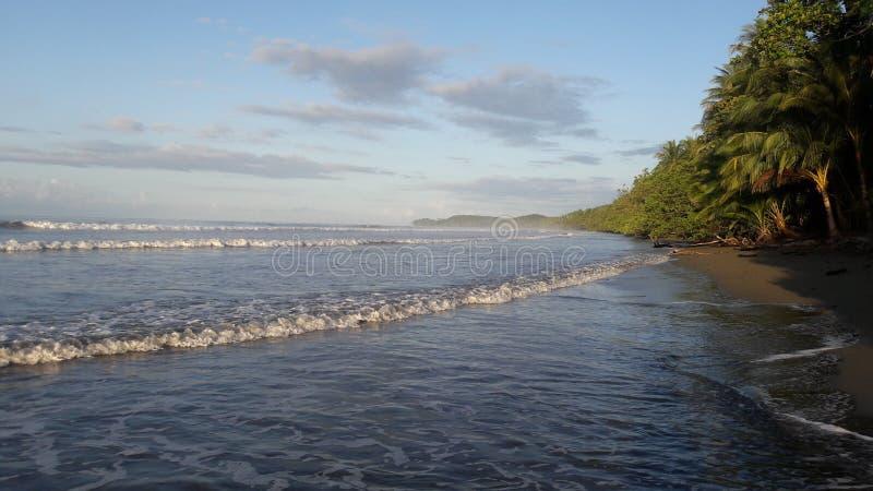 Costa Rica Beach Waves lizenzfreie stockbilder