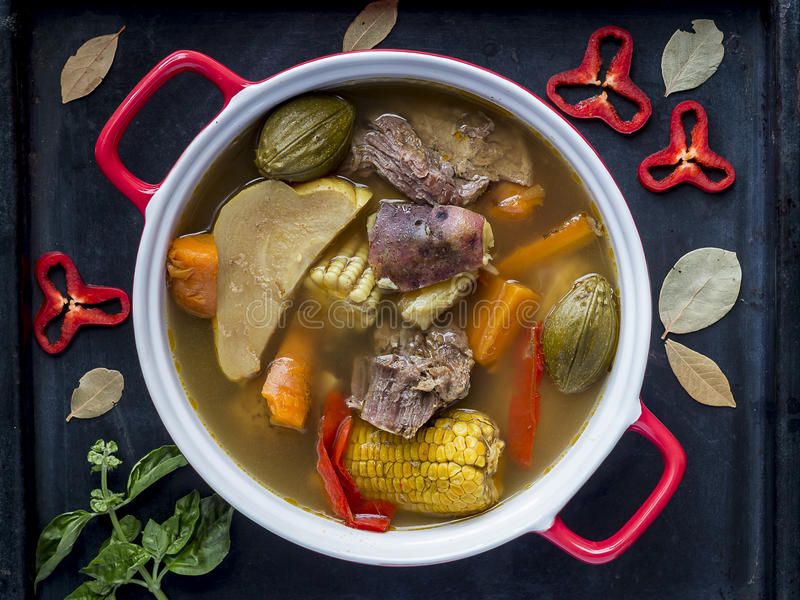 Costa Rica Beef Stew, typical food stock images