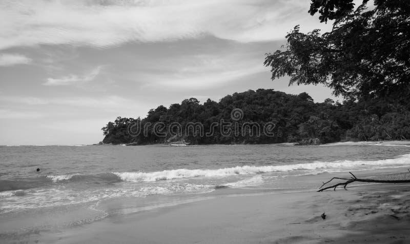 Costa Rica Black and white stock photo