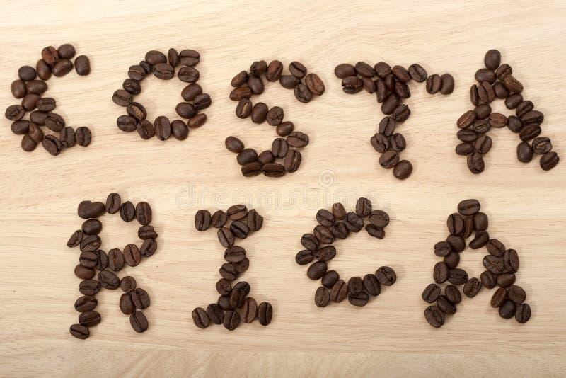 Costa Rica coffe Bohnen stockfotos