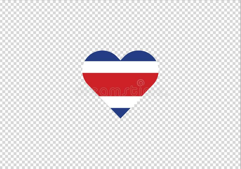 Costa Rica-de vorm Amerika van het liefdehart vector illustratie