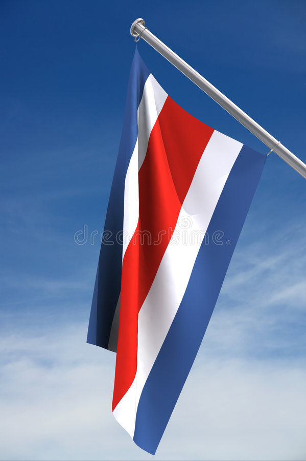 Costa Rica Flag. The flag of Costa Rica with clipping path vector illustration