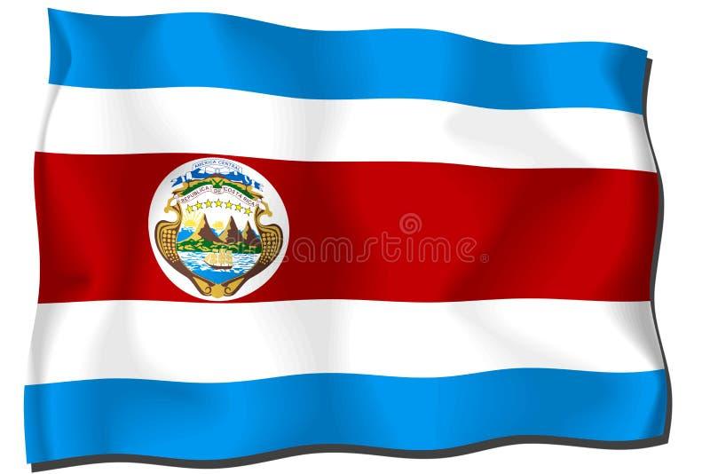 Download Costa Rica Flag stock illustration. Illustration of costa - 6899775