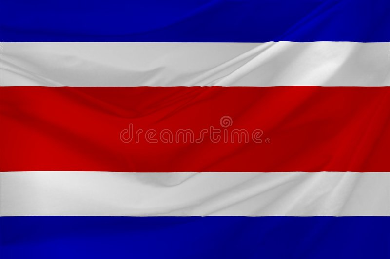 Costa Rica Flag. Wavy Flag Illustration of costa Rica vector illustration
