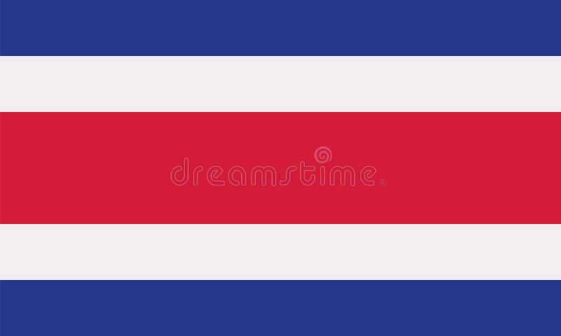 Costa Rica flag. Country vector vector illustration