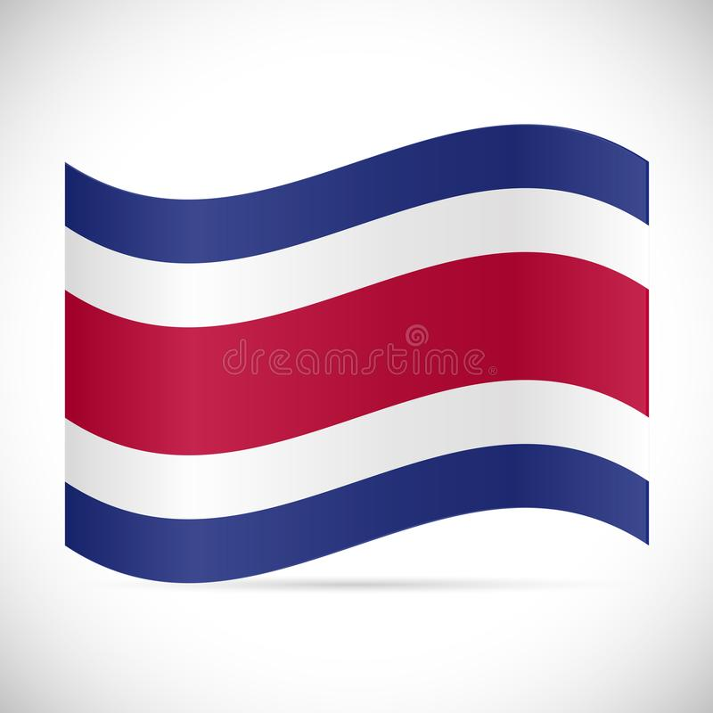 Costa Rica Flag Illustration stock illustratie