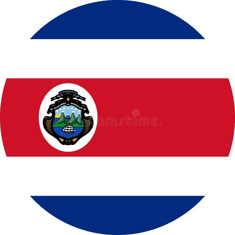 Costa Rica Flag illustrationvektor eps vektor illustrationer