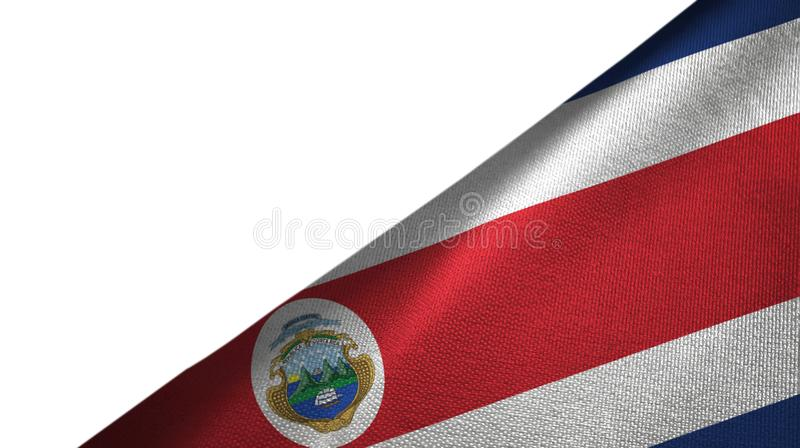 Costa Rica flag right side with blank copy space vector illustration