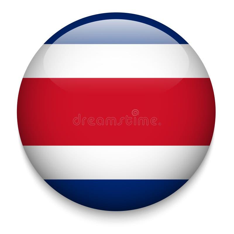 COSTA RICA flag button stock illustration
