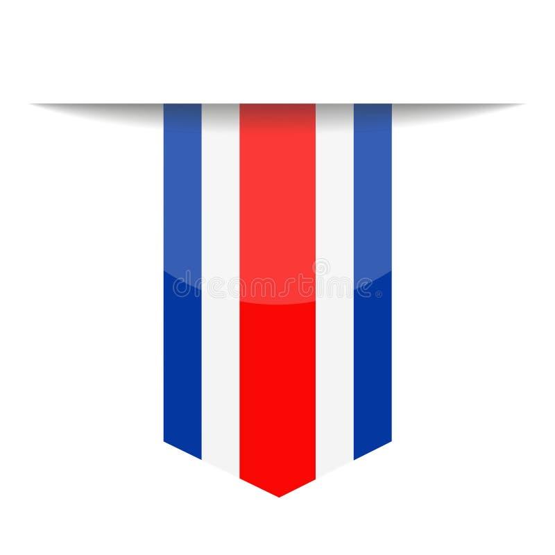 Costa Rica Flag Vector Bookmark Icon libre illustration