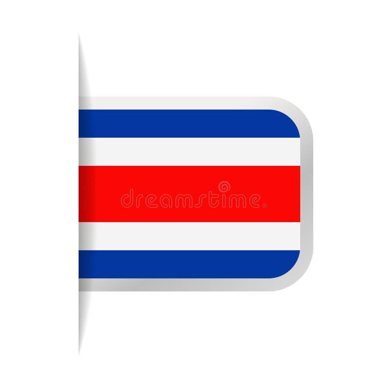 Costa Rica Flag Vector Bookmark Icon ilustración del vector