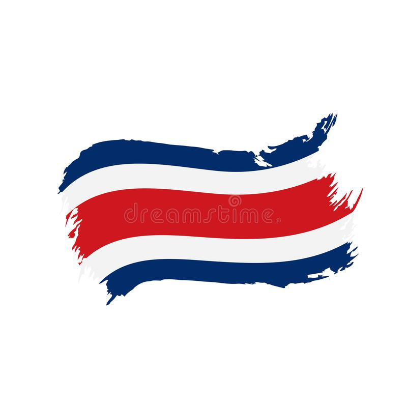Costa Rica flag, vector illustration. On a white background vector illustration