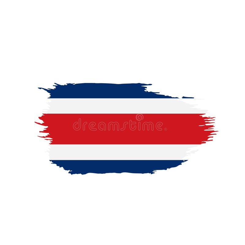Costa Rica flag, vector illustration. On a white background royalty free illustration