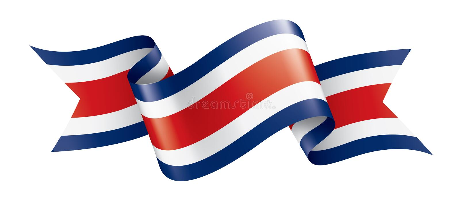 Costa Rica flag, vector illustration on a white background. Costa Rica national flag, vector illustration on a white background stock illustration