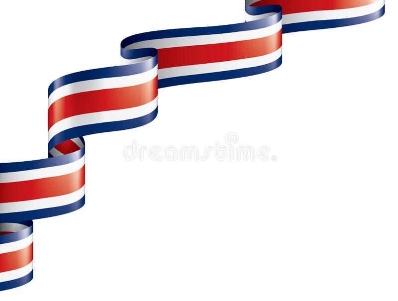 Costa Rica flag, vector illustration on a white background. Costa Rica national flag, vector illustration on a white background vector illustration