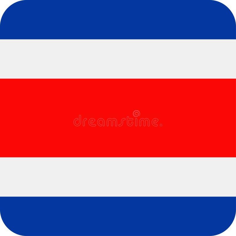 Costa Rica Flag Vector Square Flat symbol vektor illustrationer