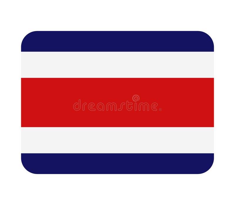 Costa Rica flagga vektor illustrationer