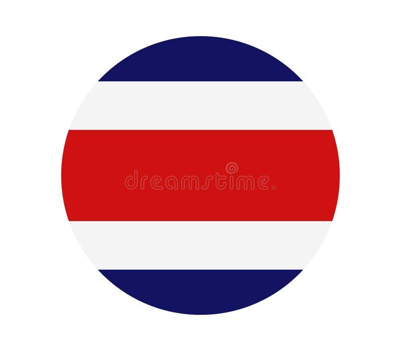 Costa Rica flagga royaltyfri illustrationer