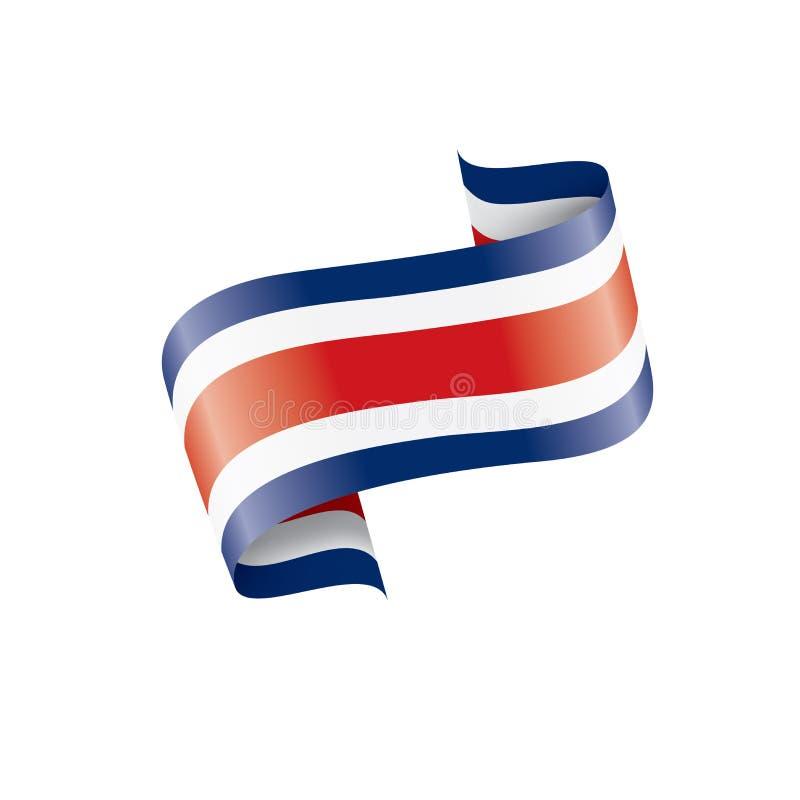 Costa Rica flagga, vektorillustration på en vit bakgrund vektor illustrationer