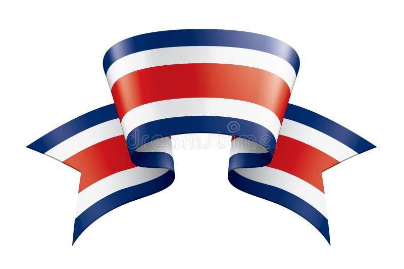 Costa Rica flagga, vektorillustration p? en vit bakgrund royaltyfri illustrationer