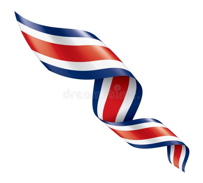Costa Rica flagga, vektorillustration p? en vit bakgrund vektor illustrationer