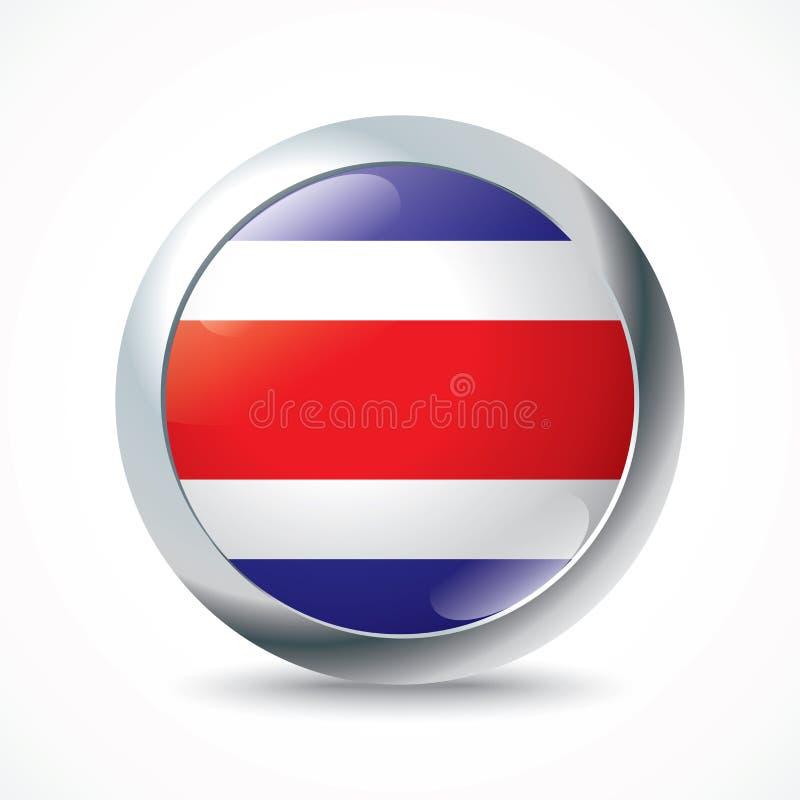 COSTA RICA flaggaknapp vektor illustrationer