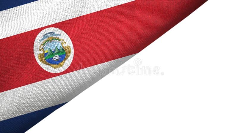 Costa Rica flaggavänster sida med tomt kopieringsutrymme royaltyfri illustrationer