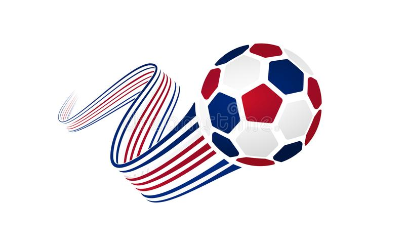 Costa Rica fotbolllag royaltyfri illustrationer