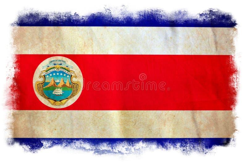 Costa Rica grungeflagga royaltyfri illustrationer