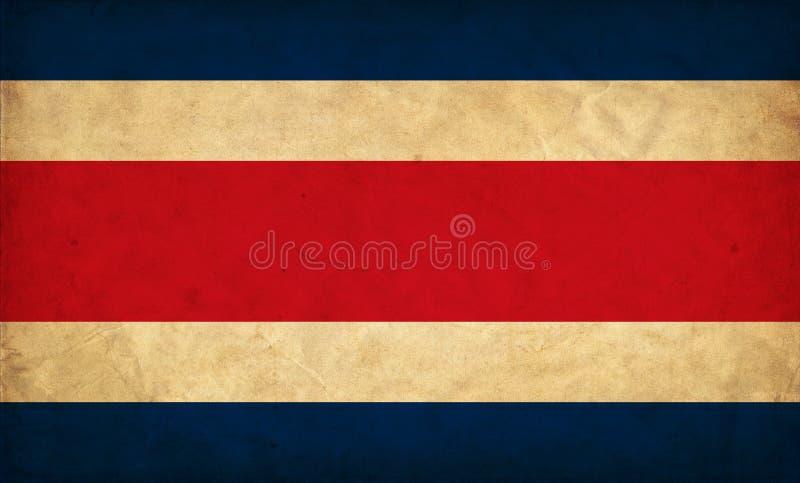 Costa Rica grungeflagga vektor illustrationer