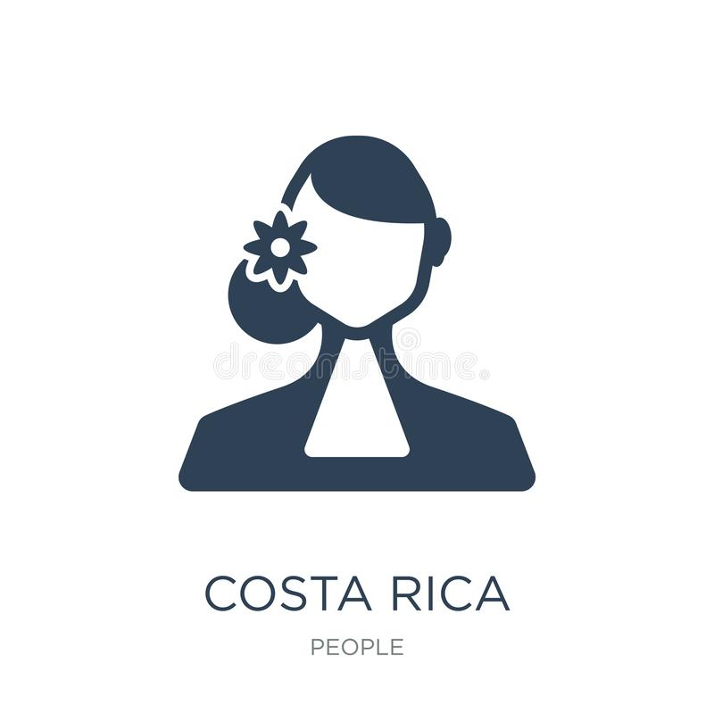 Costa rica icon in trendy design style. costa rica icon isolated on white background. costa rica vector icon simple and modern. Flat symbol for web site, mobile stock illustration