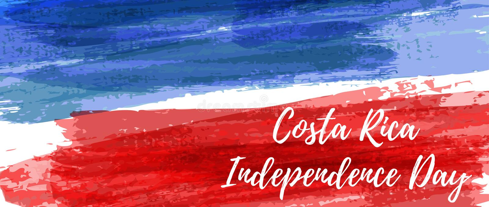 Costa Rica Independence Day banner vector illustration