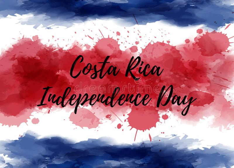 Costa Rica Independence Day vector illustration