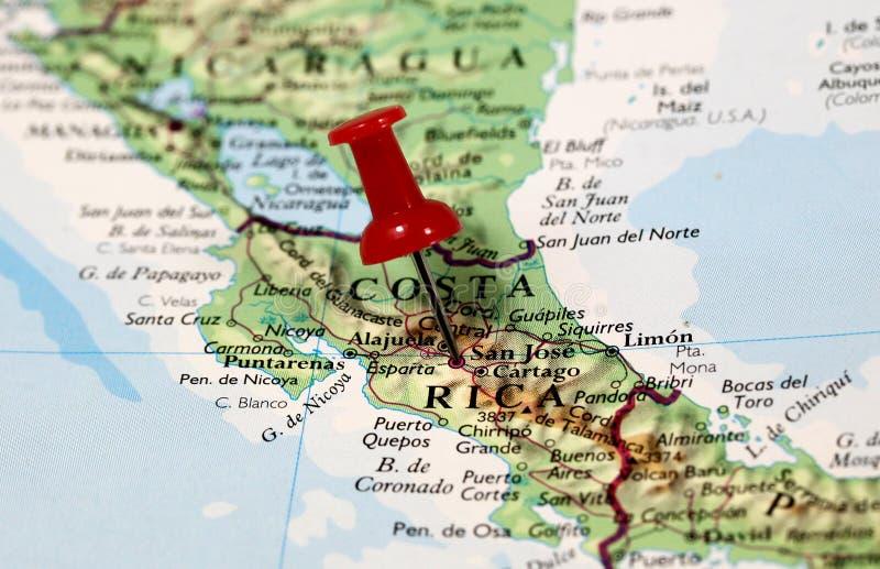 Costa Rica in Karibischen Meeren stockbilder
