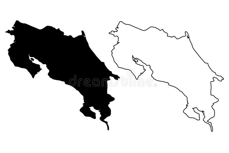 Costa Rica map vector vector illustration