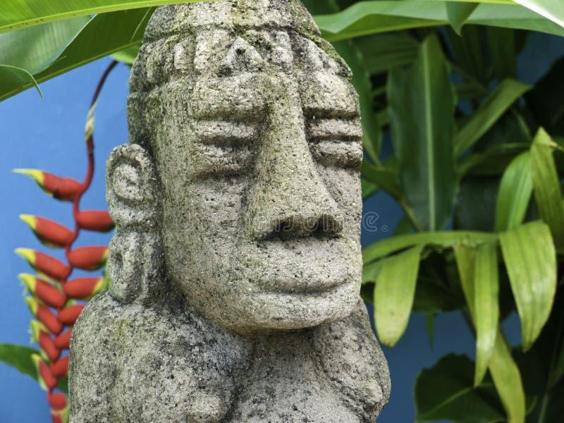 Costa Rica Mayan Sculpture royaltyfria bilder