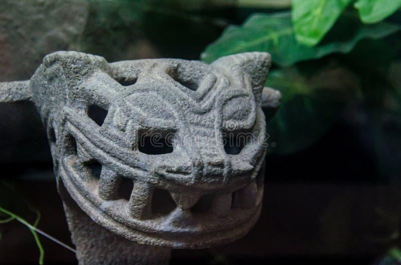 Costa Rica Metate antiguo con la forma de Jaguar fotografía de archivo libre de regalías