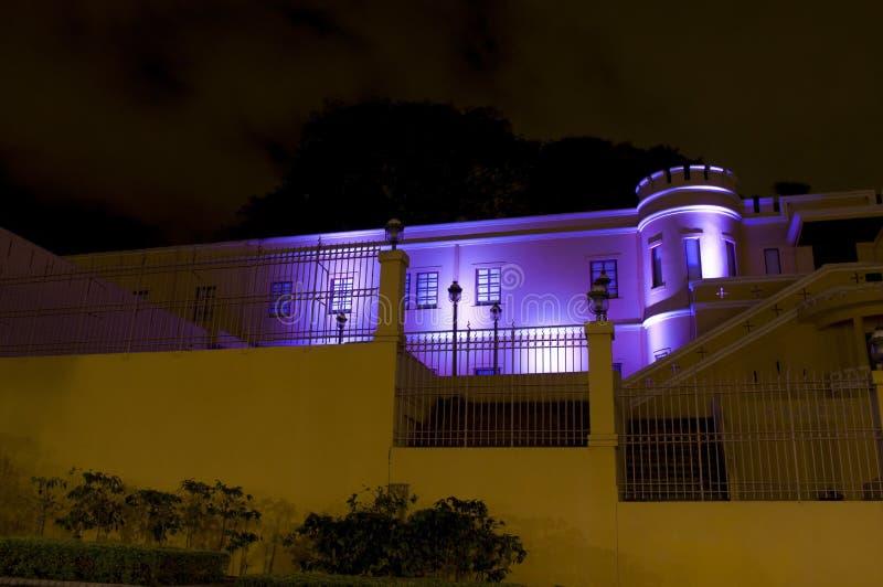Costa Rica Musuem nacional na noite fotos de stock royalty free