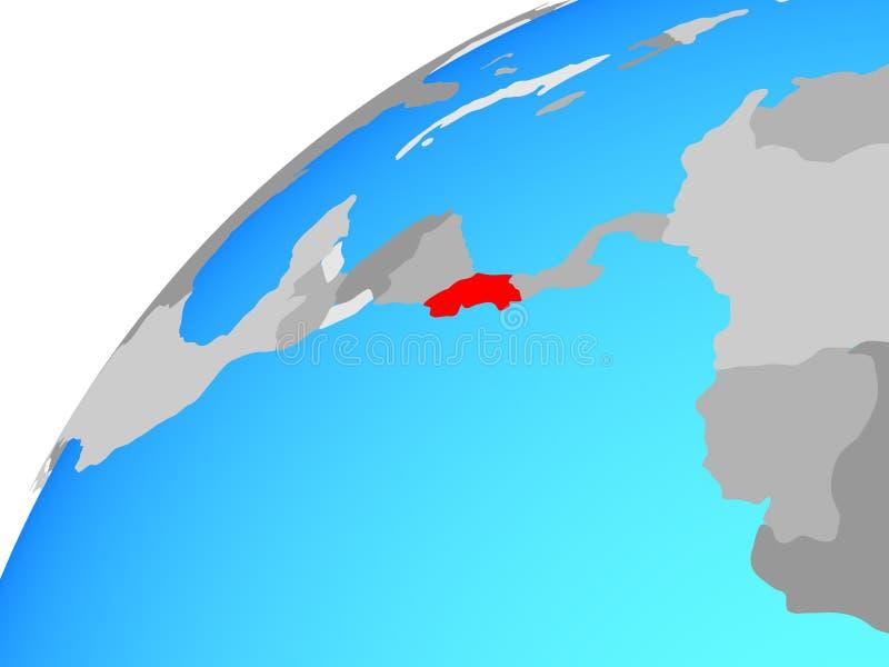 Costa Rica na kuli ziemskiej ilustracji