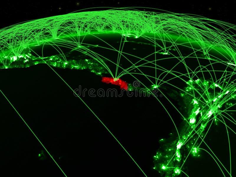 Costa Rica na zielonej kuli ziemskiej ilustracji