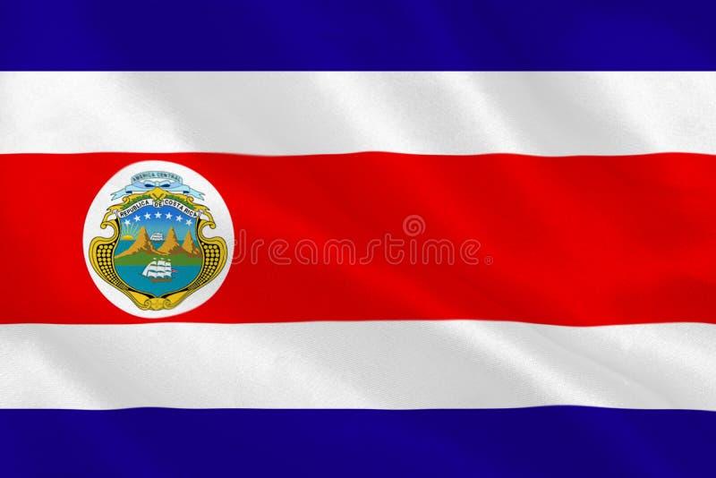 Costa rica national flag royalty free illustration