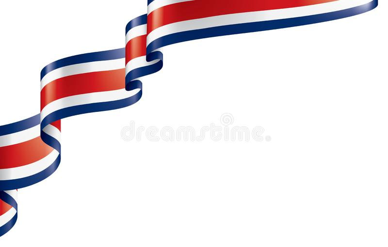 Costa Rica flag, vector illustration on a white background. Costa Rica national flag, vector illustration on a white background royalty free illustration