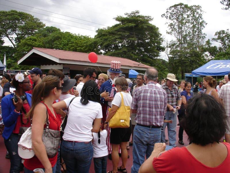 COSTA RICA 4o JULHO fotos de stock royalty free