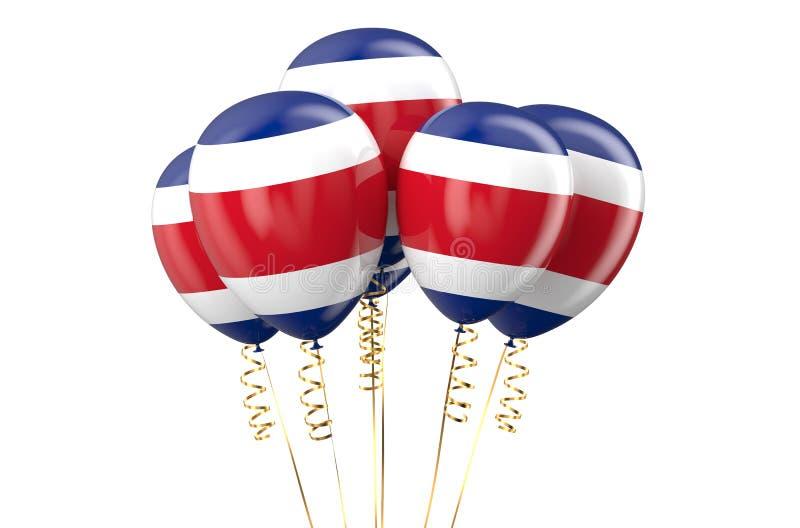 Costa Rica patriotiska ballonger som är holyday royaltyfri illustrationer