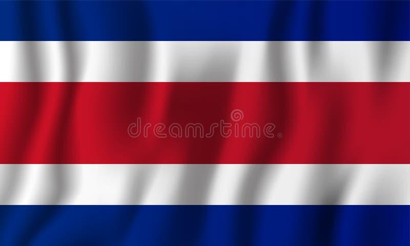 Costa Rica realistic waving flag vector illustration. National c vector illustration