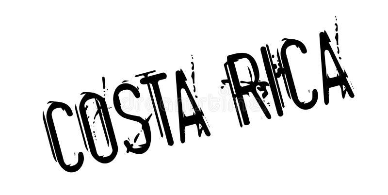 Costa Rica rubber stämpel royaltyfri illustrationer
