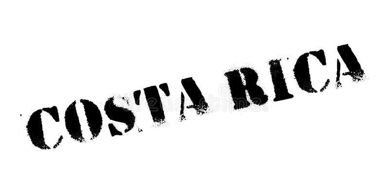 Costa Rica rubber stämpel stock illustrationer