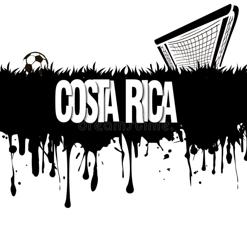 Costa Rica with a soccer ball and gate vector illustration